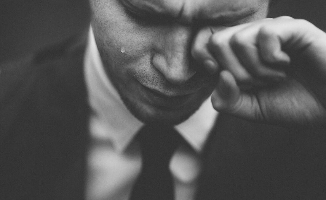 Cry like a man. how men show emotions. helping my husband show emotions